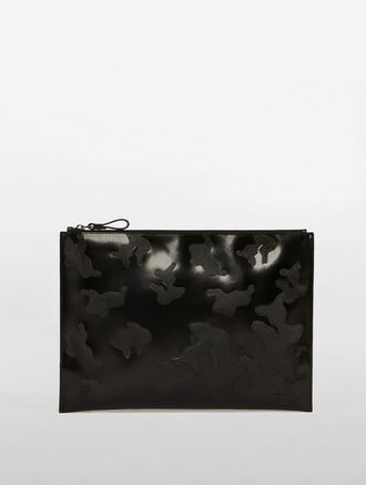 CALVIN KLEIN CAMO COLLAGE LARGE TRAVEL POUCH