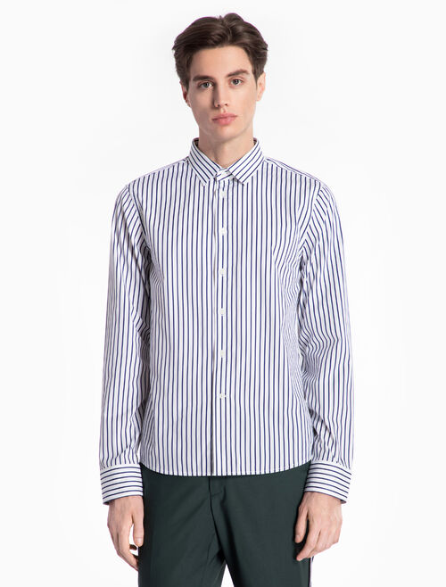 CALVIN KLEIN WOVEN STRIPED SHIRT