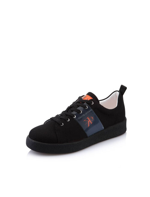 CALVIN KLEIN NYLON LACE-UP SNEAKERS