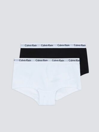 CALVIN KLEIN 2 PACKS KIDS LOGO MANIA SHORTY - GIRLS