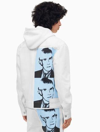 CALVIN KLEIN Warhol Portrait Denim Trucker Jacket
