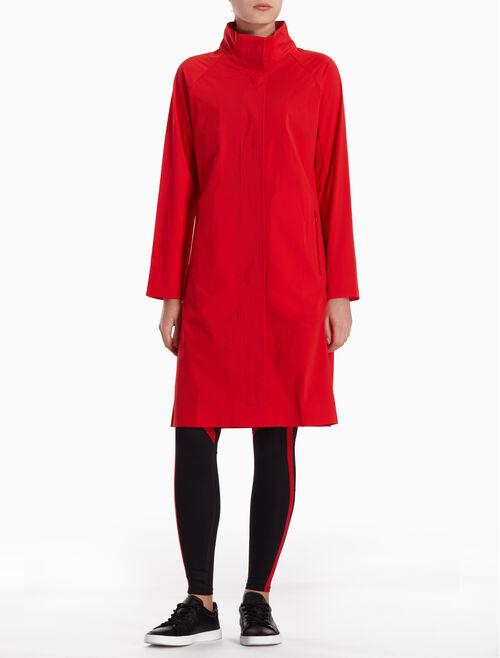 CALVIN KLEIN 레이저 컷 로고 논우븐 소재 재킷