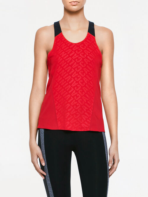 CALVIN KLEIN CK ALLOVER PRINT WORK OUT TANK