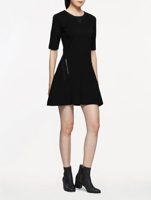 CALVIN KLEIN DANECREWNECKHEAVY WEIGHT KNIT DRESS
