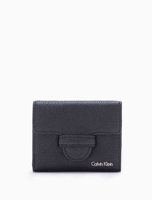 CALVIN KLEIN MAGNETIC TAB MEDIUM TRIFOLD WALLET