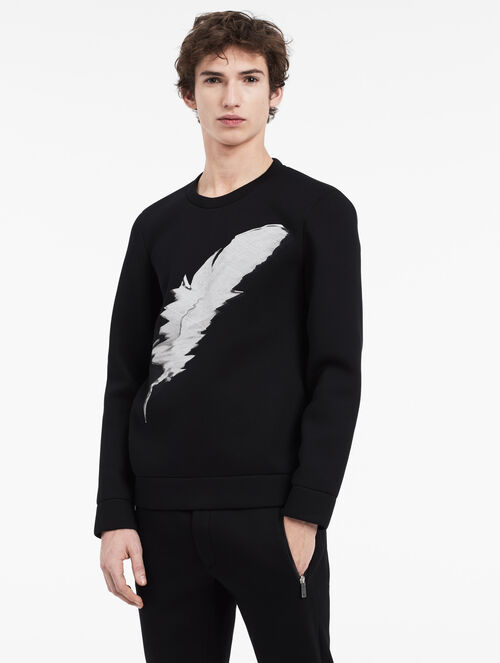 CALVIN KLEIN sculpted feather embroidered sweatshirt