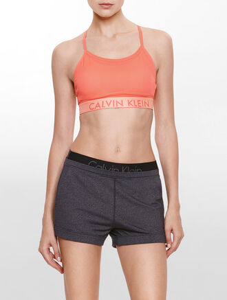 CALVIN KLEIN MESH LAYERED ADJUSTABLE STRAPS SPORTS BRA