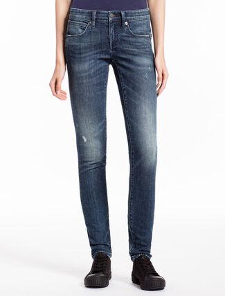 CALVIN KLEIN PHOENIX BLUE 微彈貼身直筒牛仔褲