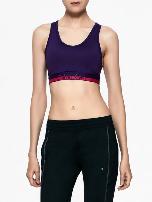 CALVIN KLEIN RACER BACK BRA TOP WITH REMOVEABLE CUP