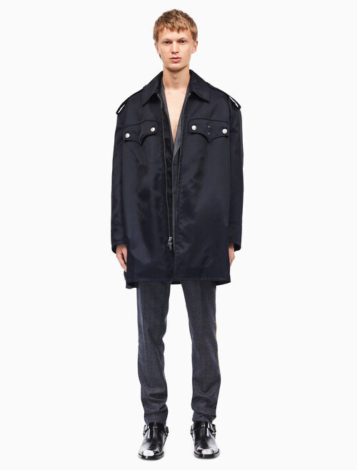 CALVIN KLEIN oversized policeman coat