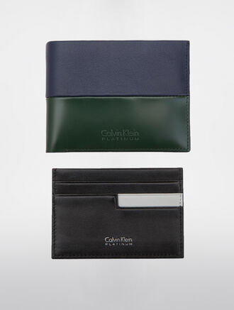 CALVIN KLEIN TWO TONE CLASSIC BILLFOLD WITH REMOVABLE CARDCASE