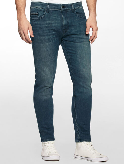 CALVIN KLEIN DARK DEEP SEA TAPER JEANS