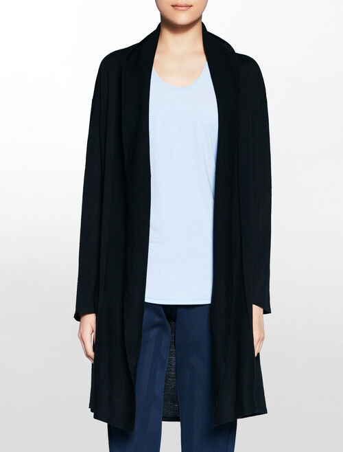 CALVIN KLEIN MESH BACK PANEL CARDIGAN