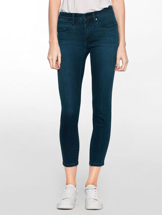 CALVIN KLEIN SILK DARK BODY ANKLE JEANS