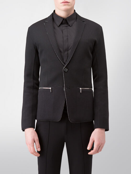 CALVIN KLEIN DOUBLE FACE JERSEY BUTTON UP BLAZER