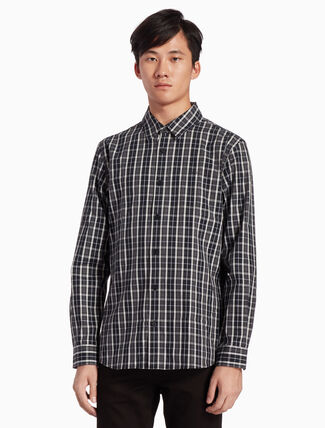 CALVIN KLEIN INSTITUTIONAL SLIM CHECKED SHIRT