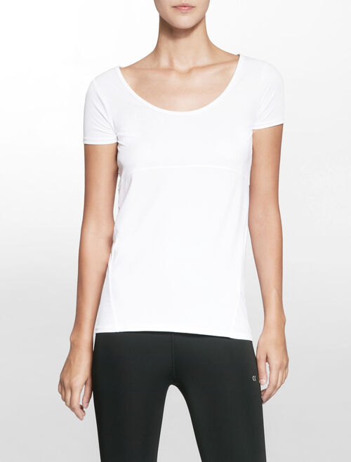 CALVIN KLEIN SILICON FLOCKING SHORT SLEEVE TEE