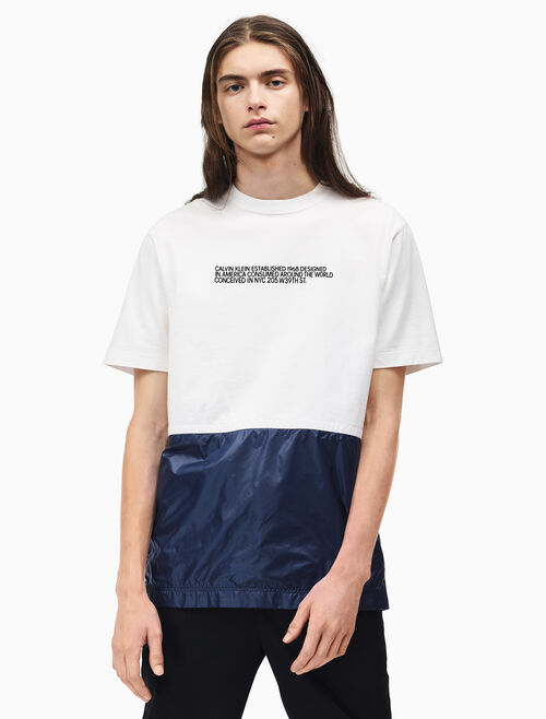 CALVIN KLEIN 텐트 크루넥 티셔츠