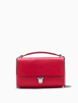 CALVIN KLEIN SCULPTED FLAP CROSSBODY BAG