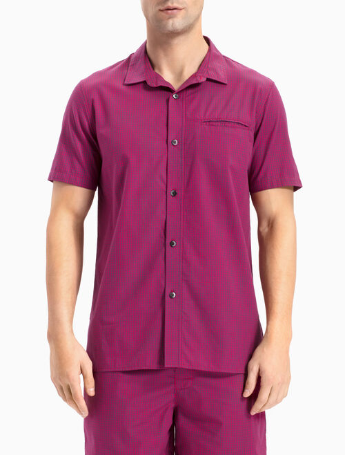 CALVIN KLEIN WOVEN SLEEPWEAR BUTTON-DOWN TOP