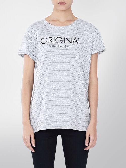 CALVIN KLEIN オリジナルロゴプリントTシャツ
