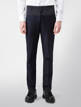 CALVIN KLEIN JERSEY TWILL NYLON COMBO PANTS( PRESTON FIT )