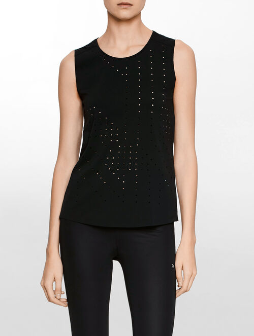 CALVIN KLEIN PROFORATED TANK
