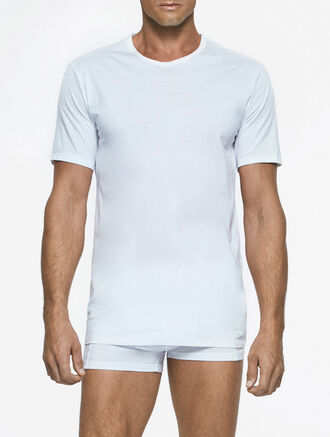CALVIN KLEIN LIQUID STRETCH COTTON TEE