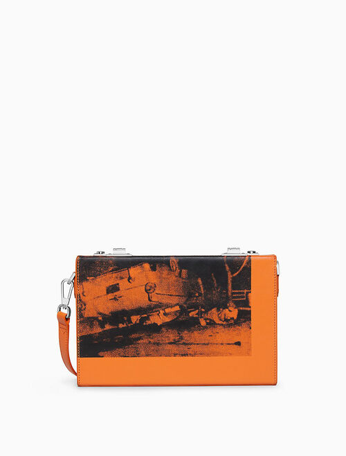 CALVIN KLEIN 5 DEATHS SMALL BOX CLUTCH IN SOFT CALF LEATHER