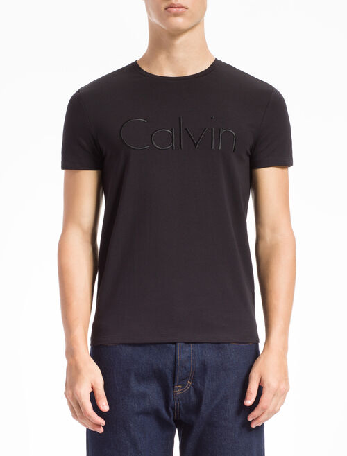 CALVIN KLEIN EMBROIDERED LOGO TEE IN SLIM FIT