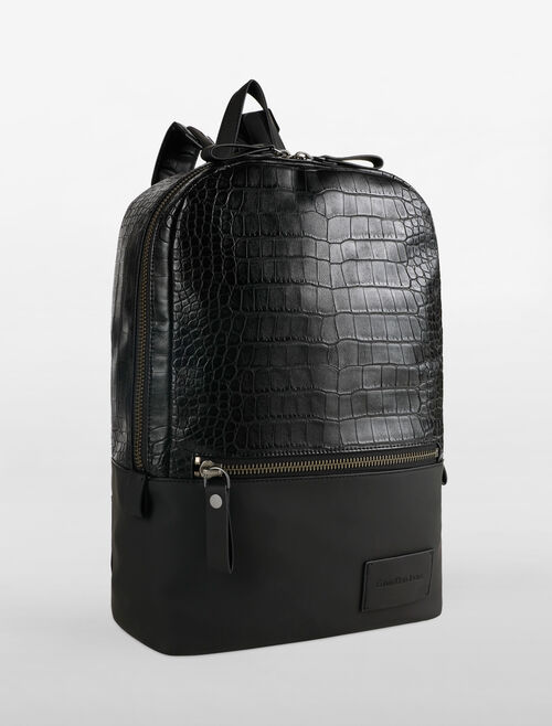 CALVIN KLEIN REPTILE & RUBBER CAMPUS BACKPACK
