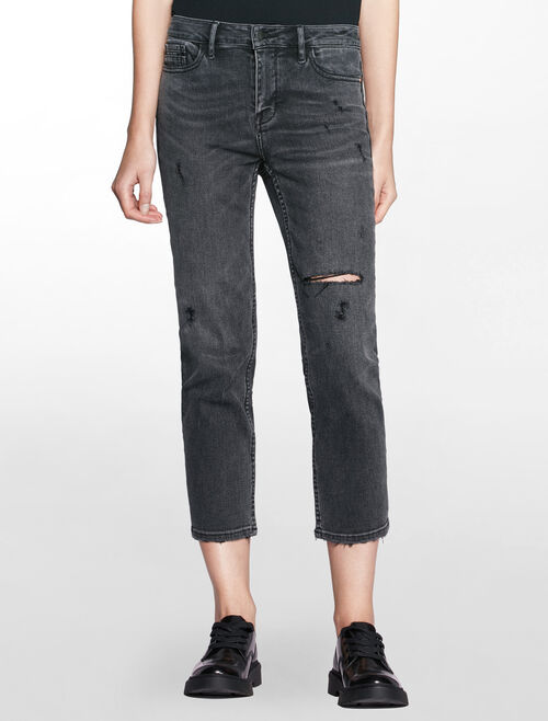 CALVIN KLEIN HIGH RISE STRAIGH CROP JEANS