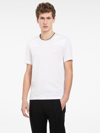 CALVIN KLEIN CONTRAST SWEATER NECK T-SHIRT