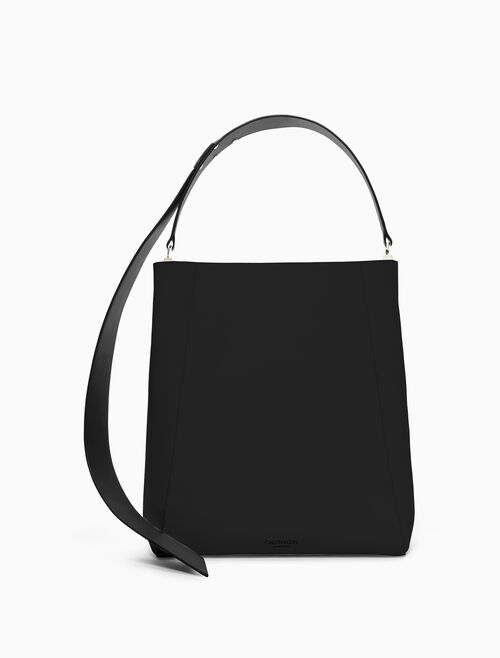 CALVIN KLEIN large luxe calf bucket bag
