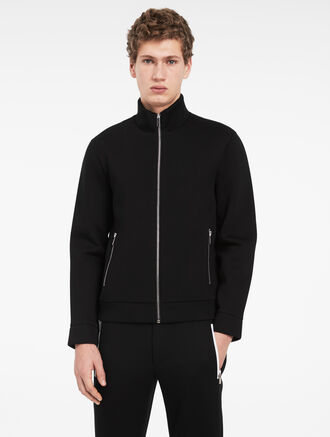 CALVIN KLEIN SCULPTED ZIP TRACK JACKET
