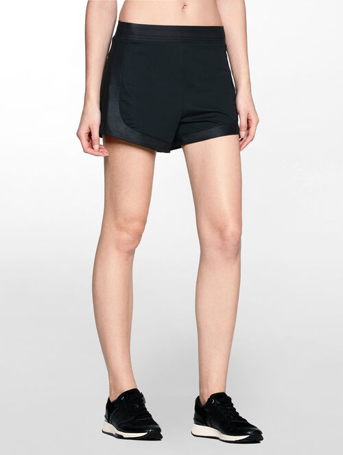 CALVIN KLEIN 2 LAYERS SHORTS WITH ADJUSTABLE WAISTBAND