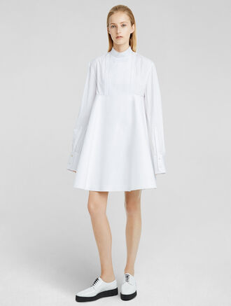 CALVIN KLEIN COTTON POPLIN FLARED DRESS
