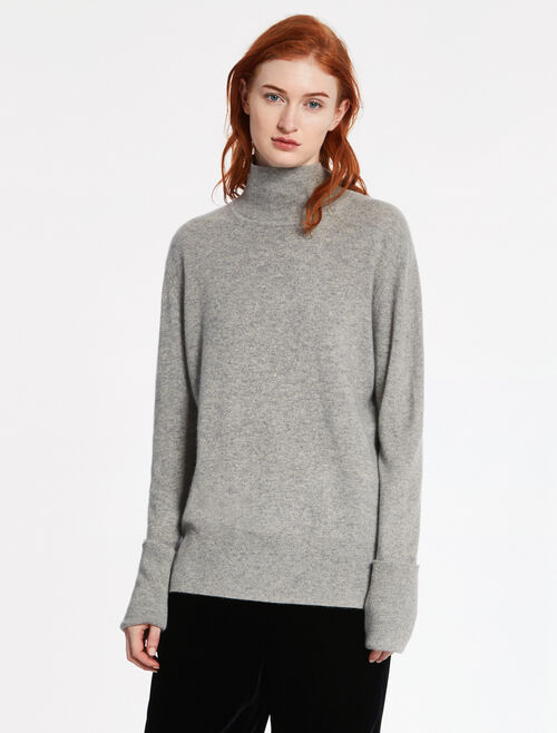 CALVIN KLEIN LUX FINE GAUGE CASHMERE Long Sleeves BASIC TOP