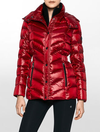 CALVIN KLEIN MIDLENGTH ZIP DOWN JACKET