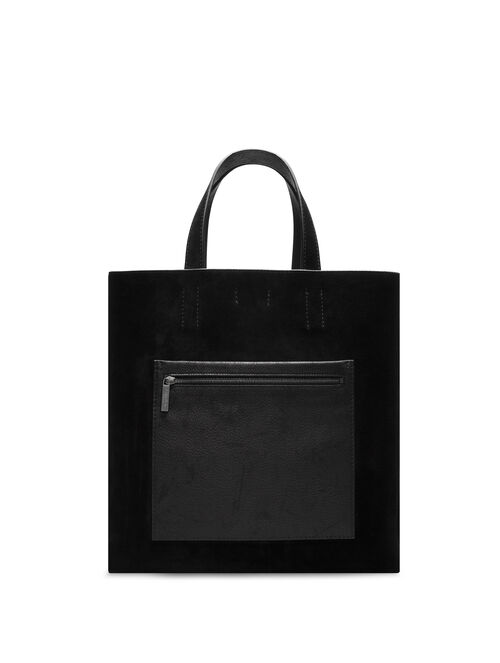 CALVIN KLEIN WATER SNAKE POCKETED TOTE