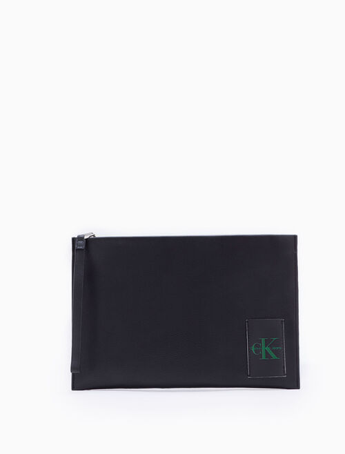 CALVIN KLEIN COATED CANVAS MEDIUM TRAVEL POUCH