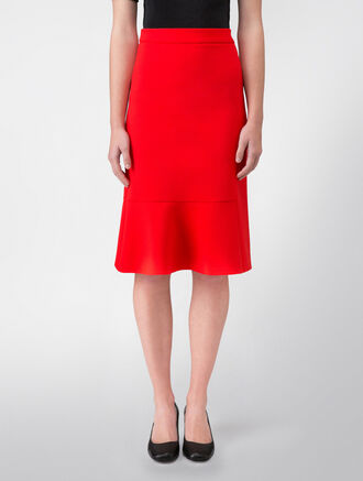 CALVIN KLEIN BONDED MODERN STRETCH HIGH-WAISTED SKIRT