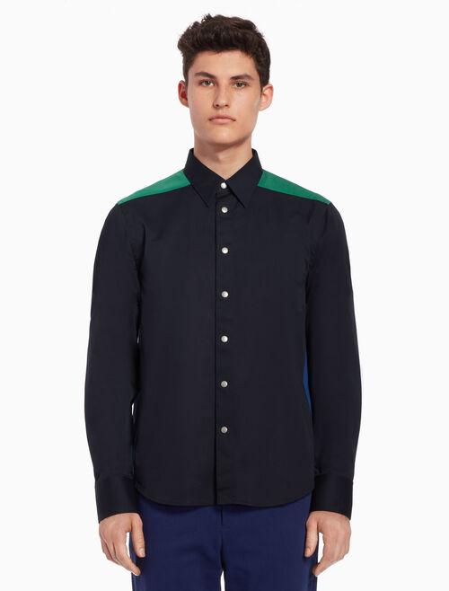 CALVIN KLEIN Color block woven shirt