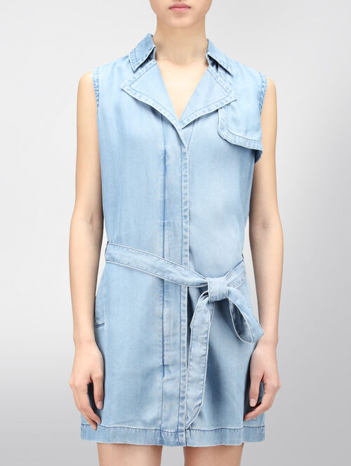 CALVIN KLEIN DENIM LYOCELL DRESS
