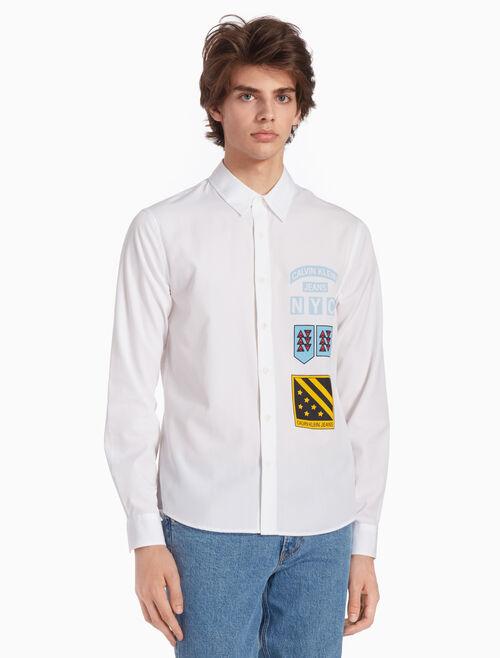 CALVIN KLEIN 우븐 보이스카웃 프린트 셔츠