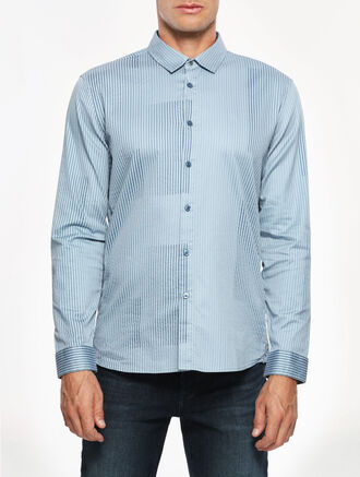 CALVIN KLEIN CARBON STRIP SHIRT