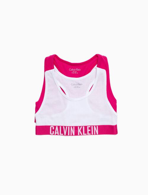 CALVIN KLEIN GIRLS 2-PACK LOGO BRALETTES
