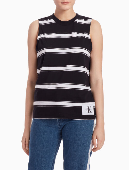 CALVIN KLEIN STRIPED TANK TOP