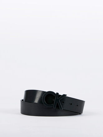 CALVIN KLEIN CK LEATHER WRAP BELT