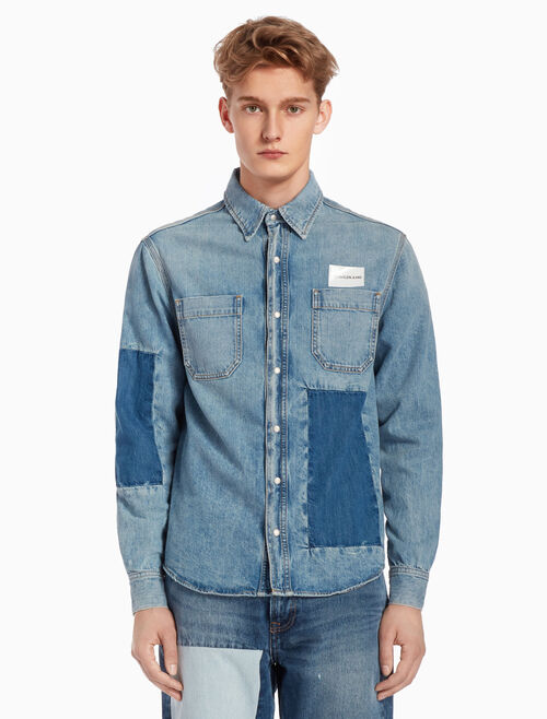 CALVIN KLEIN PATCHED UTILITY SHIRT
